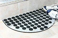 Fußmatte ALU 60x40cm, halbrund mattiert Aluminium