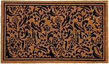 Fußmatte aus Kokosfaser, braun und schwarz, mit