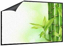 Fußmatte Bambus mit Blättchen B x H: 70cm x 50cm von Klebefieber®