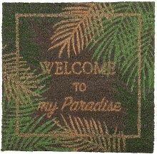 Fußmatte bedruckt mit tropischem Motiv 45x45