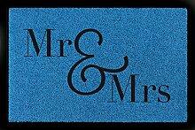 FUSSMATTE Eingang MR & MRS Geschenk Hochzeit Liebe