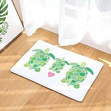 Fußmatte Eingang Schildkröte Familie Bodenmatte