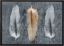 Fußmatte Feder, grau (59/78 cm)
