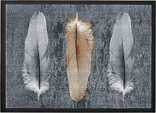 Fußmatte Feder, grau (78/114 cm)