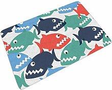 Fußmatte Fussmatte Bunte Fisch Karikatur Hai