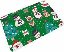 Fußmatte Fussmatte Grün Rot Weihnachten