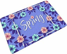 Fußmatte Fussmatte Lila Blatt Blüte Frühling