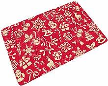 Fußmatte Fussmatte Rotes Weihnachten Elemente