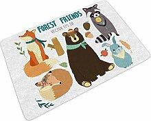 Fußmatte Fussmatte Tier Wald Freunde Druck