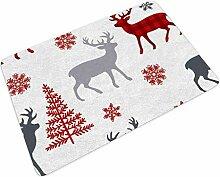 Fußmatte Fussmatte Weihnachten Rotwild Elch Baum