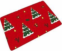 Fußmatte Fussmatte Weihnachtsbaum Rot Grün 3D