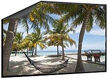 Fußmatte Hängematte am Strand B x H: 85cm x 60cm von Klebefieber®