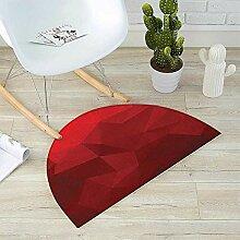 Fußmatte, halbrund, dreieckig, Mosaikmuster, Rot