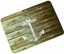 Fussmatte Holz-Optik für Haustür, Flur, Innen