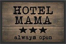 Fußmatte Hotel Mama, braun (38/59 cm)