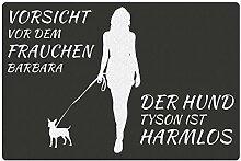 Fußmatte - Hund mit Frauchen (Chihuahua mit Zwei