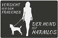 Fußmatte Hund mit Frauchen Russel Terrier: