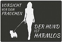 Fußmatte Hund mit Frauchen Westhighland Terrier: