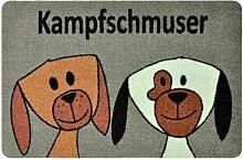 Fußmatte Kampfschmuser Hundezwillinge Aspasia