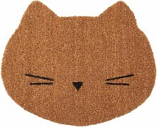 Fußmatte Katze aus Kokosfasern 38x45