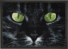 Fußmatte Katze, schwarz (38/59 cm)