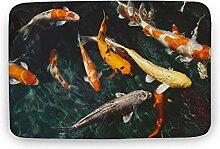 Fußmatte Koi Fish Rectangle Moderner Teppich für