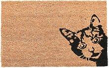 Fußmatte Kokosmatte Kuckuck! Katze Kokosfaser PVC