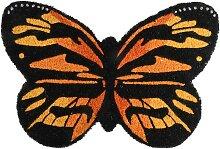 Fußmatte Kokosmatte Schmetterling Kokosfaser PVC
