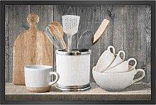 Fußmatte Küche, grau (38/59 cm)