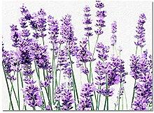 Fussmatte Lavendel Pflanze Blumen Teppiche Für