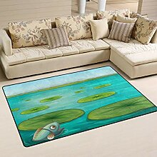 Fußmatte Lily Pads Rechteckiger Teppich mit