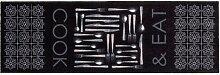 Fußmatte MIABELLA COOK & EAT 50 x 150 cm grau