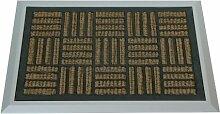 Fußmatte mit ALU-Rahmen, 68x48 cm, Kokos - Gummi,