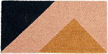 Fußmatte mit Druckmotiv, rosa und schwarz 60x30