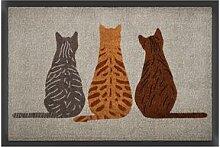 Fußmatte mit Katzenmotiv