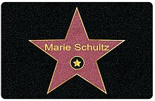 Fußmatte mit Namen Walk of Fame - Personalisierte