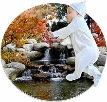 Fußmatte, Motiv: Herbst-Ahornblatt-Stein,
