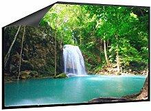 Fußmatte Oase mit Wasserfall B x H: 70cm x 50cm von Klebefieber®