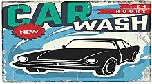 Fußmatte Oldtimer Auto Carwash bedruckt 99x55 cm