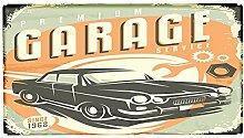 Fußmatte Oldtimer Auto Garage bedruckt 99x55 cm