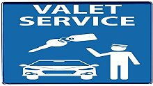 Fußmatte Oldtimer Auto Park Service bedruckt