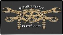 Fußmatte Oldtimer Auto Service Reparatur bedruckt