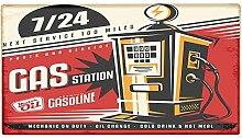 Fußmatte Oldtimer Auto Tankstelle 24 bedruckt