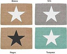 Fußmatte, rutschfest, Stern 4C, modern weiß