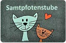 Fußmatte Samtpfotenstube Katzenzwillinge Meredith