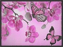 Fußmatte Schmetterling, rosa (38/59 cm)