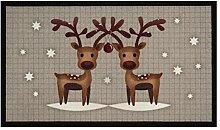 Fußmatte Schmutzfangmatte Christmas Reindeers