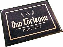 Fußmatte Schmutzfangmatte Don Corleone schwarz 40x60 cm | 100927