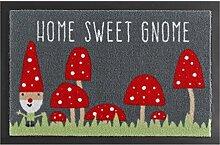 Fussmatte Schmutzfangmatte Home Sweet GNOME Grau