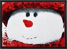 Fußmatte Snowy, rot (38/59 cm)